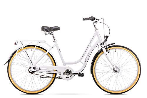 ROMET Herren TURING, weiß, Größe M Aluminium Rahmen City Bike 26 Stadtfahrrad Fahrrad Citybike Cruiser Hollandrad Shimano 7 Gang 18 Zoll