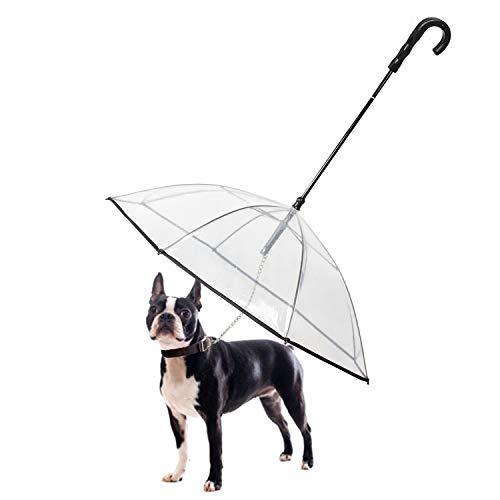 Namsan - Ombrello con guinzaglio per cani di piccola taglia che cammina all'aperto (neve/pioggia)