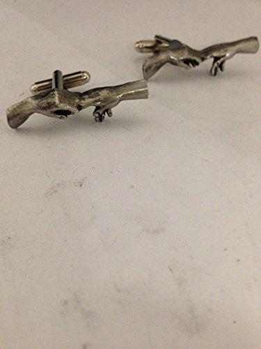 Creation Hands R206 - Gemelos de peltre (3,7 x 1,3 cm), diseño de Sheffield