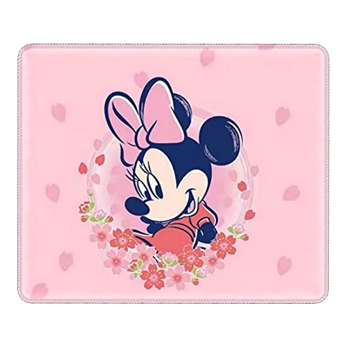 Alfombrilla de ratón de Mickey Mouse Minnie Mouse con base de goma antideslizante bordes cosidos para ordenadores, portátiles, oficina y hogar
