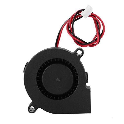 Dpofirs 5015 Ventilador Turbo de Impresora 3D de 5 V, Ventilador de refrigeración del radiador del Ventilador, Compatible con PWM, 7000r / min, Material antiplástico PBT (5 v)