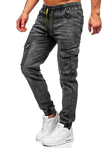 BOLF Hombre Pantalones Jogger Estilo Urbano Bolsillos 6F6 Motivo
