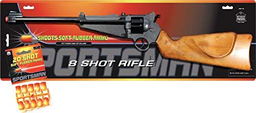 PARRIS CLASSIC QUALITY TOYS EST. 1936 Soft Rubber Ammo Toy 8 Shot Rifle