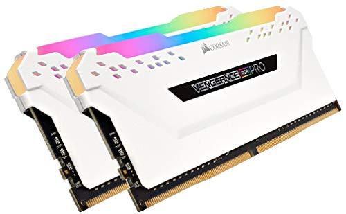Corsair Vengeance RGB PRO 32GB (2x16GB) DDR4 3000MHz C15 XMP 2.0 Enthusiast RGB LED-Beleuchtung Speicherkit - weiß