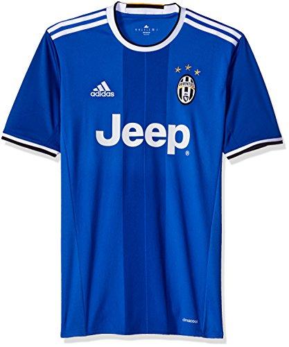 adidas International Soccer Juventus Men's Jersey, Small, Vivid Blue/White