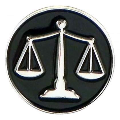 Ashton en Finch juridische weegschalen van justitie advocaten vrijmetselaar rechter metalen emaille reversspeld badge