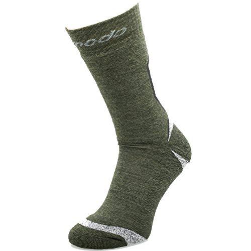 Comodo 1 Paire Chaussettes de Randonnée | Femmes/Hommes | Sport | Trekking | Marche | Alpinisme | Camping | 50% Laine Mérinos | STE, 02. Cochon:Kaki/Mouline, Groessen:35-38