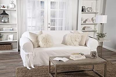 Classic Slipcovers BT10SOLWHITE Slipcover, Sofa, White