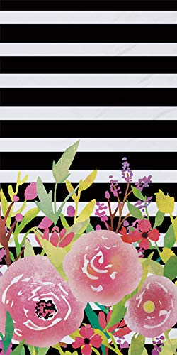 Sticker Superb Súper Absorbente Flor Toallas de Playa Suave Poliéster Terciopelo Viajar Deportes Yoga Nadando Toalla Chica Chico Hombre Mujer Verano (Negro, 75 x 150 cm)