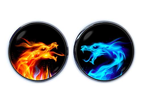 Fire and Ice Boutons de manchette Dragon Bijoux Fiery Dragon Dragon de glace