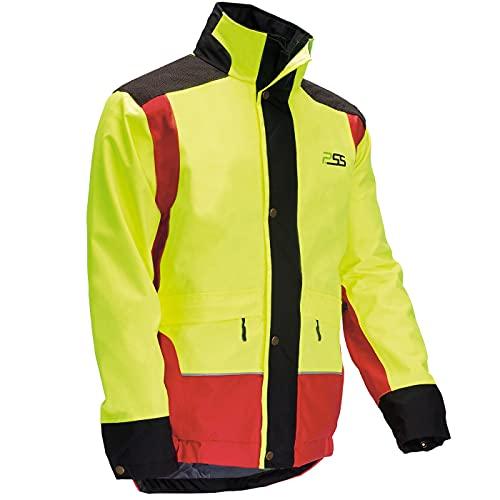 PSS X-Treme Rain – Chaqueta impermeable para la caza a presión – Chaqueta de caza impermeable para hombre – Chaqueta de trabajo para el trabajo forestal amarillo XXL