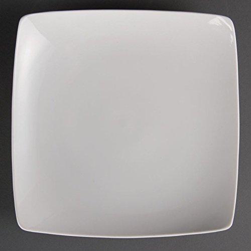 Olympia Cb689 carré Bowled plate (lot de 4)