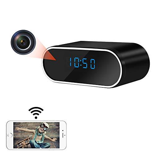 LXMIMI Telecamera Spia, WiFi Grandangolare da 140° Telecamera Nascosta, HD 1080P per Visione Notturna Automatica Telecamera Nascosta Spia con Rilevamento del Movimento e Batteria Ricaricabile