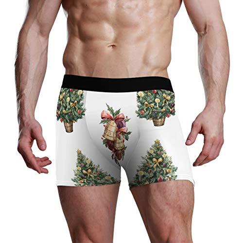 FANTAZIO mannen Boxer korte kerst bel patroon mannen ondergoed