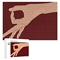 Circle Finger Game 300ピースジグソーパズル木製パズル 子供 グッズ 初心者向け ギフト 人気 減圧知育玩具大人 耐久性 高級印刷 無毒 無臭 無害 難易度調整可能 プレゼント