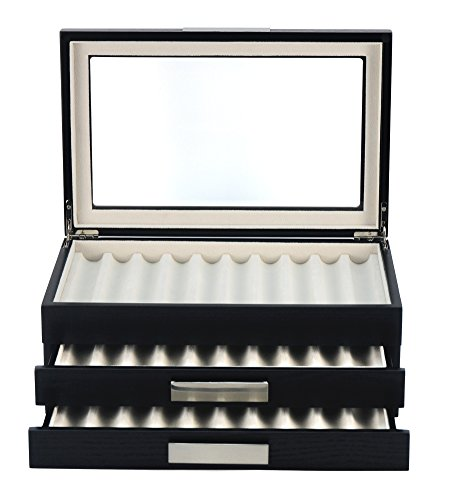 XXL Stiftebox Holz für 30 Füller Stifte Kugelschreiber Federhalter Display Box
