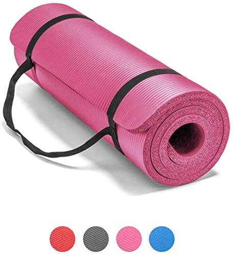 ZBYZF Universal Thickened Yoga Mat with High-Density Non-Slip Sports Mat with Straps, Tear-Resistant, Suitable for Yoga and Pilates, Size 72 X 24 Inches