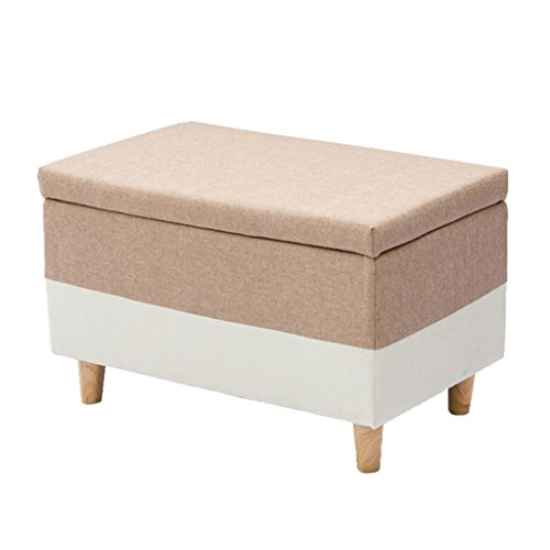 YLCJ voetensteun, voetensteun, koffer, gestoffeerd, veelzijdig inzetbaar, belastbaar tot 400 kg, woonkamer (40 cm x 75 cm x 42 cm) (kleur: groen) grijs.