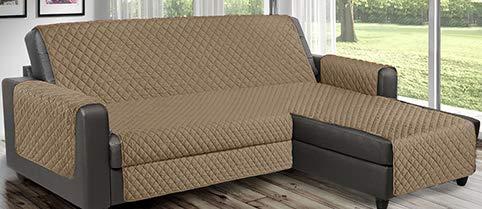 Copridivano Salvadivano reverse trapuntato è utilizzabile per divani ad Angolo con penisola sia destra che sinistra reversibile PET FRIENDLY (Tortora, 3 Posti 240 cm)