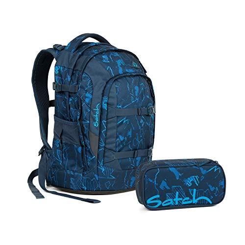 Satch Schulrucksack 2tlg. Set (mit SchlamperBox) (Pack Blue Compass)