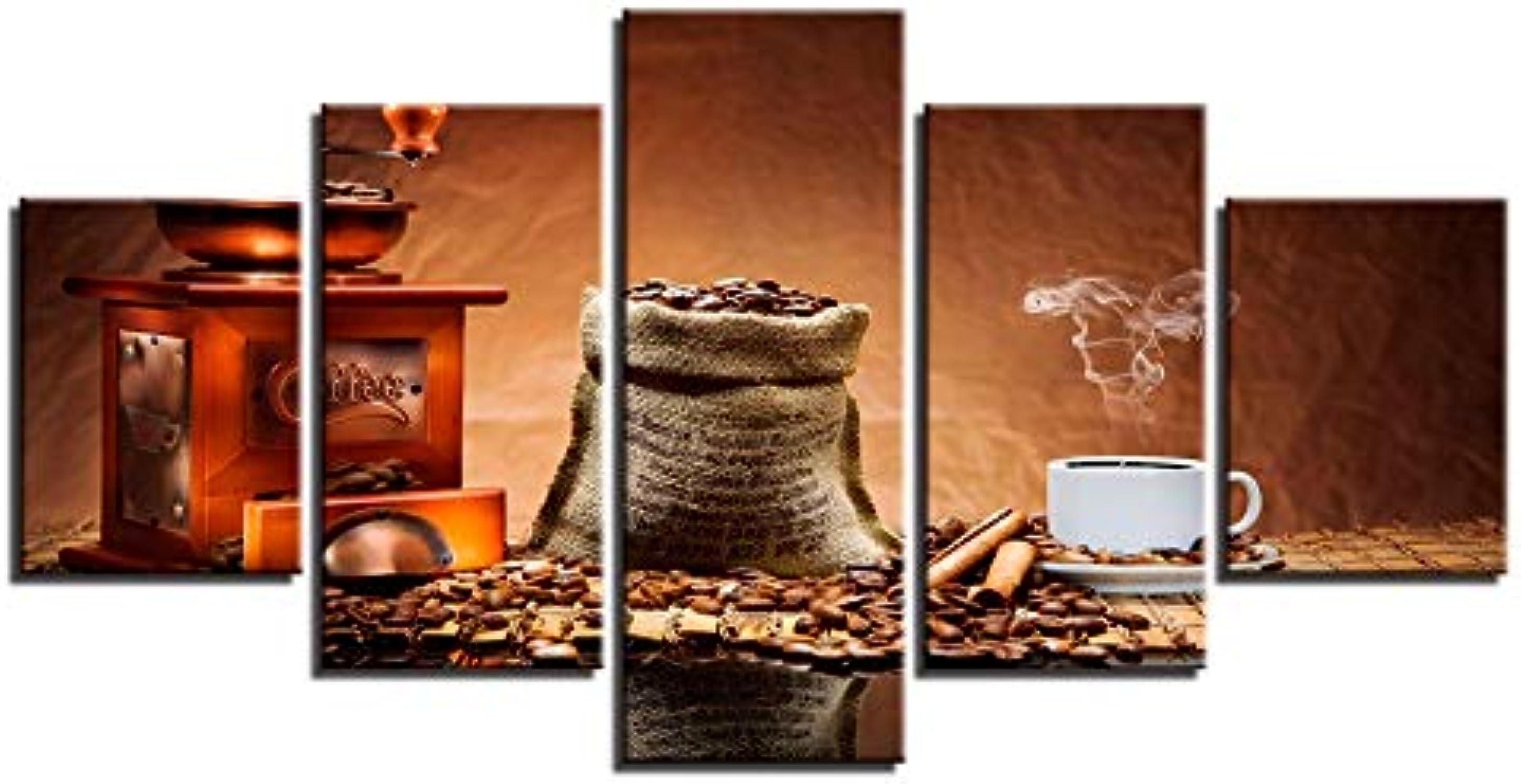 compras de moda online RMRM Imágenes de Lienzo Modular Marco de Decoración para para para el hogar Impresión HD 5 Unidades Granos de Café Pintura Café Aroma Cup Poster Restaurante Arte de Parojo 20x35cm20x45cm 20x55cm  ahorra hasta un 70%