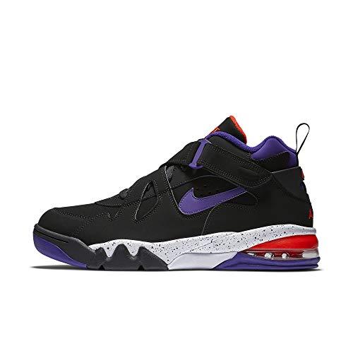 Nike Air Force MAX CB, Zapatillas de Baloncesto para Hombre, Multicolor (Black/Court Purple/Team Orange/White 002), 38.5 EU