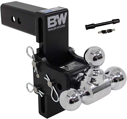 Lowest Prices! TruckProUSA B&W TS20049B Tow & Stow Receiver Hitch Tri-Ball with 2.5 Shank - 7 Drop...