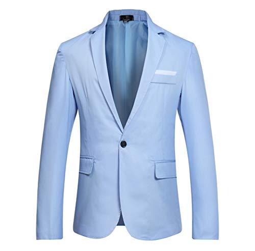 LILIHOT Herren Business Sakkos Elegant Freizeitjacke Einfarbig Einreiher Anzugjacke Slim Fit Blazer Smokingjacken