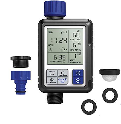 Aqua Control C4110 Digital de Riego con Pantalla panorámica Extremadamente fácil. Programador Full Vision 2. Observa Toda la información de programación a la Vez