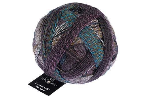 Schoppel Zauberball Stärke 6, Farbe 2475 Hintergrundrauschen, 150 Gramm, bunte, dicke Sockenwolle 6-fädig mit Farbverlauf, Socken stricken, häkeln