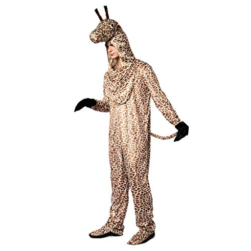 EraSpooky Disfraz de Jirafa Animal Unisex Disfraz de Mascota Disfraz de Halloween Traje Divertido para Mujeres Adultas Hombres