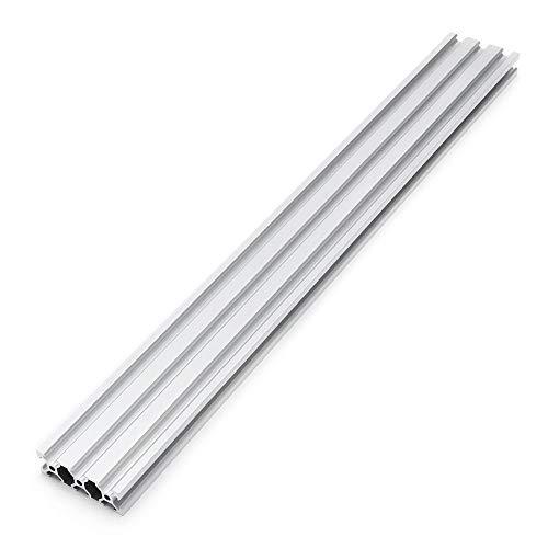belupai 100-1200mm Silver 2060 Extrusiones de aluminio con ranura en V 20x60mm Marco de extrusión de perfil de aluminio para máquina de grabado láser CNC