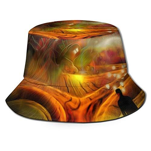 Yaseking Uomo d'affari con lampadine intorno alla testa casual estate traspirante lavabile cappello secchio copricapo, cappello pescatore, cappello da sole unisex