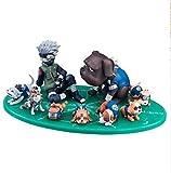 Naruto Hatake Kakashi y Ocho REN Perros Lindos Personaje Animado Modelo Estatua decoración Juguete...