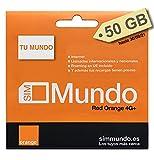 ORANGE SPAGNA - Carta SIM prepagata ( Tu Mundo) 27 GB in Spagna | 800 minuti nazionali e...