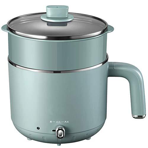 Elektrischer heißer Topf, Mini-Ramen-Kocher, 1,6-l-Nudeltopf, multifunktionaler elektrischer Kocher für Pasta, Shabu-Shabu, Haferflocken, Suppe und Ei mit Überhitzungsschutz, Trockenschutz zum Kochen