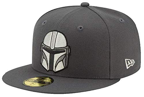 New Era The Mandalorian Helmet Boba Fett Graphite Star Wars Cap 59fifty 5950 Fitted Limited Edition(7 5I8-60,6cm,Grey)