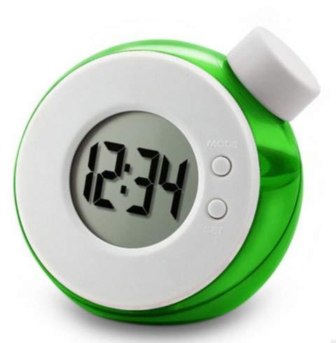 High song Despertador Niños Creativos Reloj Digital para Niños Relojes De Agua Ambiental Rompecabezas Científico Juguete Reloj De Escritorio Silencioso Regalos De Cumpleaños (Color : Green)