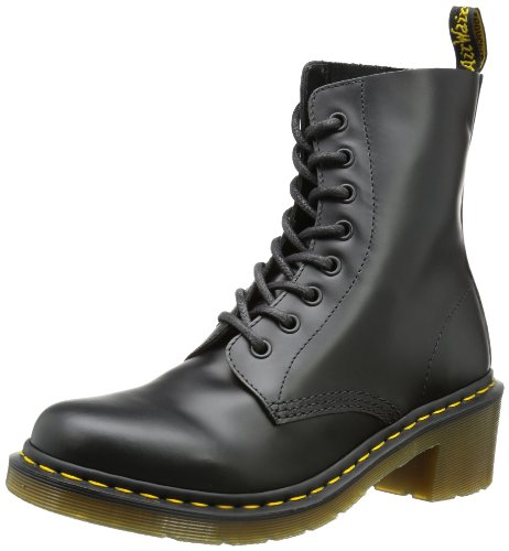 Dr. Martens Women's Clemency Boot,Black Smooth,7 UK/9 M US