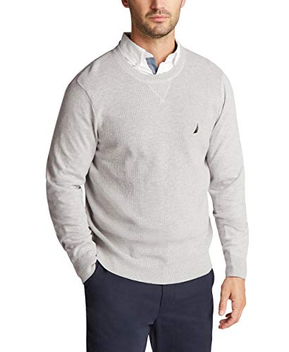Nautica Men's Navtech Crewneck Sweater, Medium Grey Heather