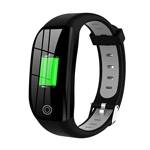 wEnBU DT35 F21 Reloj inalámbrico Inteligente Pulsera Inteligente Rastreador de Ejercicios a Prueba de Agua Monitor de Ritmo cardíaco Pulsera Deportiva Reloj Inteligente Gris Plateado
