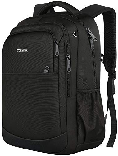 Middle School Backpack,Durable Lightweight School Bookbags for Teen Boys and Girls,Travel Casual Daypack for Men Women,Water Resistant College High School Bagpack,Black