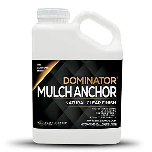 DOMINATOR 1 Gallon Mulch Anchor - Locks Mulch, Ready to Use Adhesive, Long Lasting