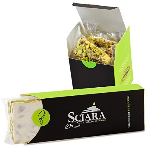 SCIARA - Kit Dolci al Pistacchio: Croccantino e Torrone di Pistacchio - Dalla Sicilia il gusto della tradizione coi sapori tipici Brontesi. Golosi snack per merende.