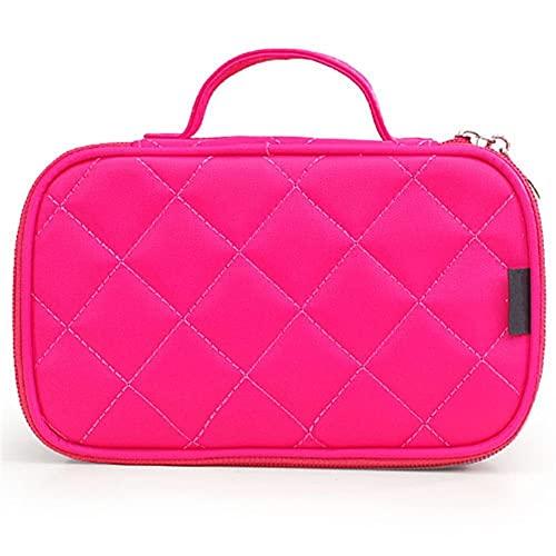 HBYXGS Bolsa de Maquillaje Mujeres Grande Impermeable Nylon Viaje cosmético (Color : Red)
