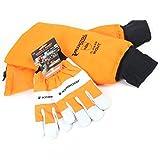 Manguitos de protección para motosierra Francital con guantes Kerwood. T 10.
