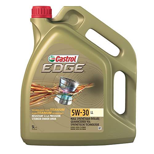 Castrol 1845033 15669D Motoröl Edge TI 5W-30 LL 5-Liter, Brown