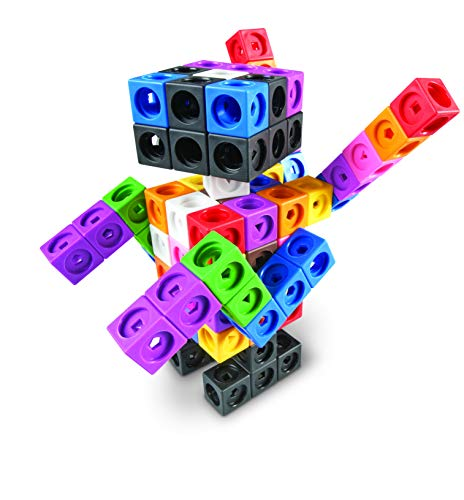 Learning Resources Early Math Mathlink Cube Activity Set, Assorted Colors, 115Piece, Ages 4+
