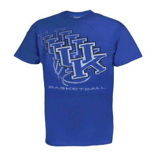 NCAA Champions University of Kentucky Wildcats UK Basketball : UK 3D Basketball T-Shirt On Short Sleeve Blue
