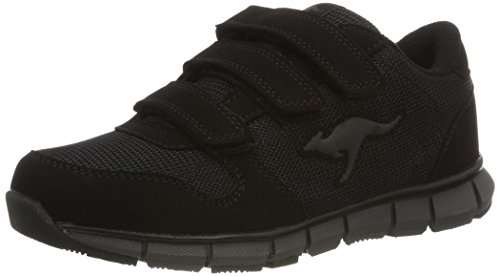 KangaROOS Unisex-Erwachsene K-BlueRun 701 B Low-Top, Schwarz (Black/Dk Grey 522), 36 EU
